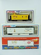 Lionel Ho Trains Tropicana Shaefer Reefers Union Pacific Caboose In Box