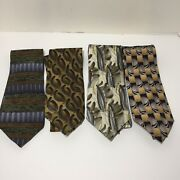 Jerry J. Garcia And Cocktail Collection 100 Silk Neckties. Lot Of 4