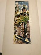 Quebec Original Watercolors Paintings Lot Of Three Signed 1969 By Artist