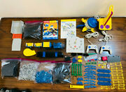 Lot Of 295 Rokenbok Monorail Train System Control Center Trains Conveyer Etc.