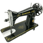 Singer 15 15k Raf Vtg Sewing Machine Heavy Duty Restored And Serviced By 3fters