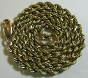 Huge 14k Yellow Solid Gold 4.3mm 28.5 Grams 20.5 Huge Rope Chain Necklace Italy
