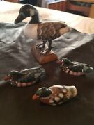 Hadley Collection Miniature Duck Decoy Collectible Figurines W/canadian Goose