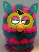 2012 Hasbro Furby Blue Pink Yellow Multicolor Fully