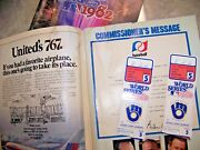 1982 World Series Ticket Stubs Game 5 Cardinals Brewers And Used And Abused Program