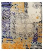 Multi Color 8x10 Hand Knotted Modern Persian Antique Old Style Silk And Area Rugs