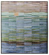 New Multi Color 8'x10' Ft Hand Knotted Striped Designer Style Silk And Area Rugs