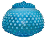 Fenton Hobnail Blue Opalescent 389 - 5 Covered Jar / Candy - Extremely Rare