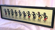 Antique Puppetry Art From Thailand Authentic Shadow Folk Art Folklore Framed