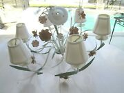 Vintage Classic Traditional Style Metal Chandelier Hand Made Color Leaf Flower
