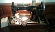 Vintage Singer Aa948823 Sewing Machine Accessories And Bentwood Case