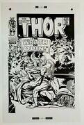Production Art The Mighty Thor 147 Cover, Jack Kirby Art, 11x17, Odin