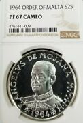 1964 Order Of Malta Silver 2 Scudi S2s Ngc Pf 67 Cameo Beautiful Frosty Coin