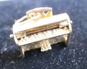 Antique 14k Yellow Gold 3d Upright Piano Pendant Charm 1940's Estate Find