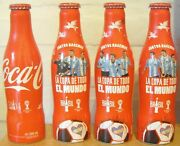 Lot 4 Set Of 4 Coca Cola Alu Bottles Fifa World Cup Brazil 2014 From Argentina