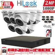 Hikvision Hilook Cctv 4ch 8ch 16ch 1080p Dvr Cameras Outdoor Security System Kit