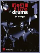 Real Time Drums In Songs D Educational Tool Drum Kit Music Book And Cd