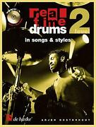 Real Time Drums In Songs And Styles D Educational Tool Drum Kit Music Book And Cd