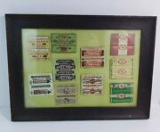 Vintage Framed Lot Of 10 Chewing Gum Wrappers - Beech-nut Wrigley's Teaberry Etc