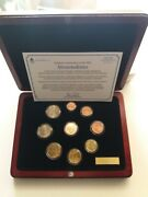 Finland 2002/ii ,euro Coin Set Incl.medal In The Luxurious Wooden Case