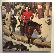 Arnold Friberg Canvas Rcmp Royal Canadian Mounted Police Along The Trail Horses