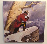 Arnold Friberg Canvas Rcmp Royal Canadian Mounted Police Maintaining The Right