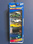 Hot Wheels 2000 Big City Trucks 5 Pack 40and039s Ford Chevy C3500 Dump Truck
