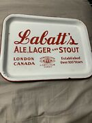 Vintage Rare Early Porcelain Breweriana Labattandrsquos Ale Lager Beer Tray Canada