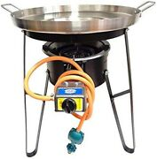 Comal Stainless Steel 22 Set W/ Propane Burner And Heavy Duty Stand - Free Ship