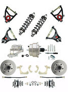 Gm 1955-57 Standard Chrome Power Disc Brake Kit And Control Arm Package Coil Overs
