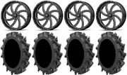 Msa Milled Switch 22 Atv Wheels 37 Motohavok Tires Can-am Renegade Outlander