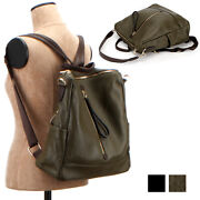 Convertible Casual Rally Backpack School Travel Tote Bag Premium Cowhide Leather
