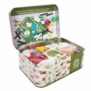 Farm In A Tin - Apples To Pears - Kids Wooden Animal Toys Gift Play Set New