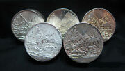 5 Round Lot Of Swiss Of America 5oz Silver Chubby Rounds - 3 Eagles And 2 Patriots