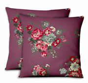 S4sassy Leaves And Begonia Home Decor Printed Fabric Cushion Cover 2pcs-fl-12j