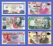 Ireland Northen - Lots Of 6 Notes - 100 Pounds - Reproductions