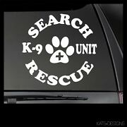 Search And Rescue K9 Vinyl Decal Car Truck Window Sticker Search And Rescue K9-39