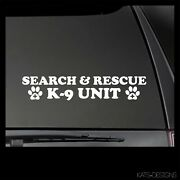 Search And Rescue K9 Unit Decal Sticker K9 Decal Search And Rescue K9-38