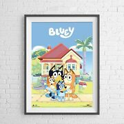 Bluey Kids Tv Series - Family House - Poster Picture Print Size 61 X 91cm New