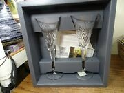 Waterford Crystal Millennium Collection Happiness Toasting Champagne Flutes Set