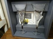 Waterford Crystal Millennium Collection Peace Toasting Champagne Flutes Set