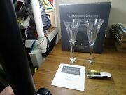 Waterford Crystal Millennium Collection Love Toasting Champagne Flutes Set
