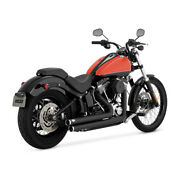 Exhaust Silencer For Harley-davidson Softail Vance And Hines Big Shots Black