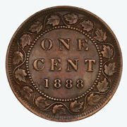 Raw 1888 Canada 1c Uncertified Ungraded Canadian Large Cent Coin