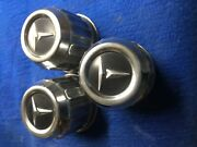 Vintage Toyota Lot Of 3 Wheel Center Caps 3 1/8 Wide Bottom 2 1/2 Tall Original