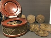 Vintage Antique Symphonion Music Box With 9 Discs Extremely Rare One Of A Kind