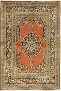 Vintage Handwoven Oriental Rug 4and0392 X 5and03911 E24248