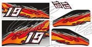 Racing Kart Qrc Outlaw Dirt Wrap Numbers - Red / Black