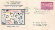 858 3c 50th Anniversary Statehood Cover Of The Month Cachet Helena Mt [427713]