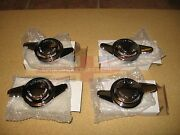 New Set Of 4 Knock-off Knockoff Nuts For Wire Wheels Triumph Tr4 Tr4a Made In Uk